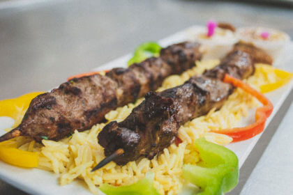 beef kabob made with halal meat