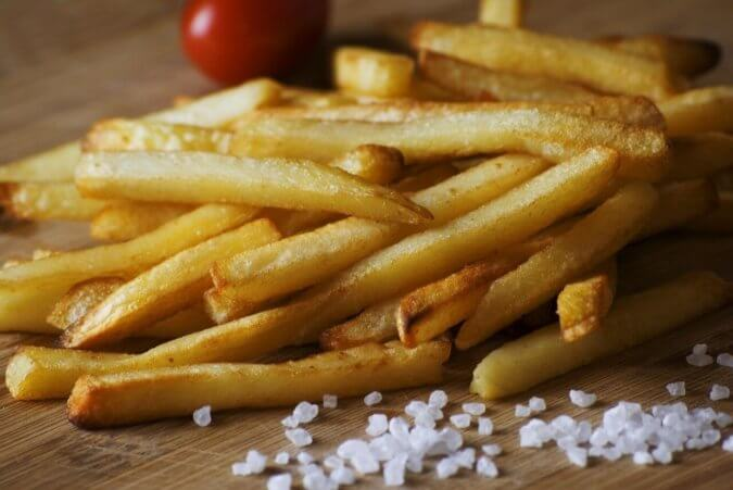 crispy and crunchy french fries